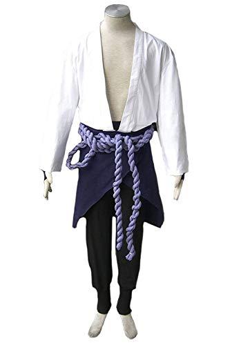 Sasuke Cosplay Kostüm Uchiha Shippuden - Karnestore Naruto: Shippuden Uchiha Sasuke Outfit Cosplay Kostüm Herren S