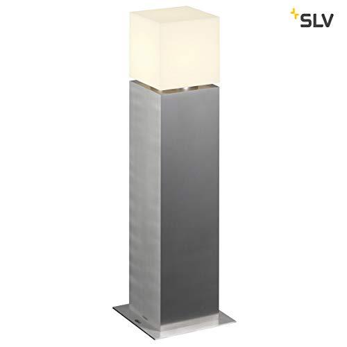 SLV LED Außen-Leuchte SQUARE POLE 60 | Design Außen-Standleuchte, stilvolle Außenbeleuchtung dimmbar | Outdoor LED Wegeleuchte, Pollerleuchte, Weg-Beleuchtung, Garten-Lampe | E27, EEK A-A++, max. 20W