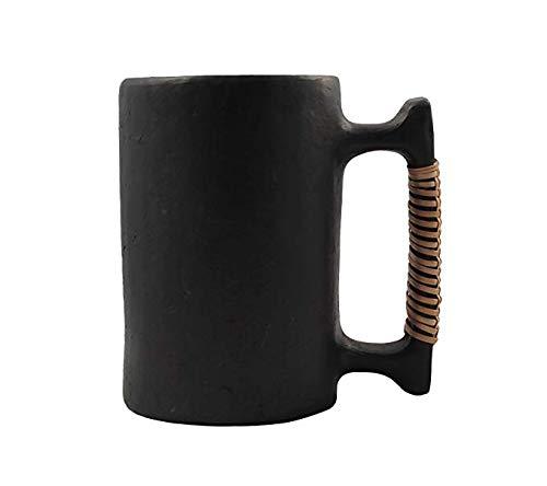 Rurale fatto a mano tradizionale nero pietra boccale di birra/tankard- realizzata a mano