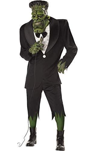 DELUXE BIG FRANK HALLOWEEN FRANKENSTEIN FANCY DRESS SCARY ADULT STAG COSTUME