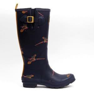 Joules Welly Print Navy Pheasant - (Womens - 3 uk)