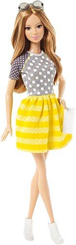 Barbie Mattel CFG16 - Summer Puppe mit gestreiftem Rock, gelb