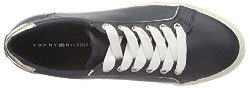 Tommy Hilfiger V1285ALI 5A, Sneakers basses femme Bleu - Blau (MIDNIGHT/GOLD 403)