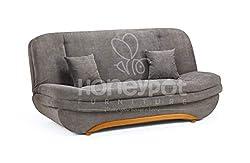 Honeypot - Sofa - Weronika - Storage Sofa Bed - 2 Seater - Grey Fabric