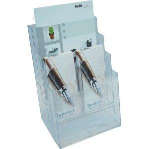 Helit 4 x Unterteilung für Tischprospekthalter auf bis zu 8 Fächern glasklar