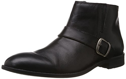 Hush Puppies Men's Vito-Boot Black Leather Formal Shoes - 9 UK (8046918)