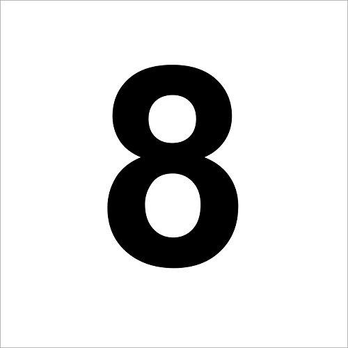 """Preisvergleich Produktbild 3 mal Nummer """"8 """" hochwertige Zahlenaufkleber,  schwarz,  wetterfeste,  10 cm hoch,  aus Hochleistungsfolie,  ohne Hintergrund,  Zahlen,  Nummer,  Mülltonne, Mülltonnen,  Uahlenaufkleber,  Hausnummer,  Briefkasten,  Aufkleber"""