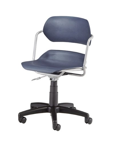 OFM Martisa Series Silver Frame with Navy Seat Plastic Task Chair -
