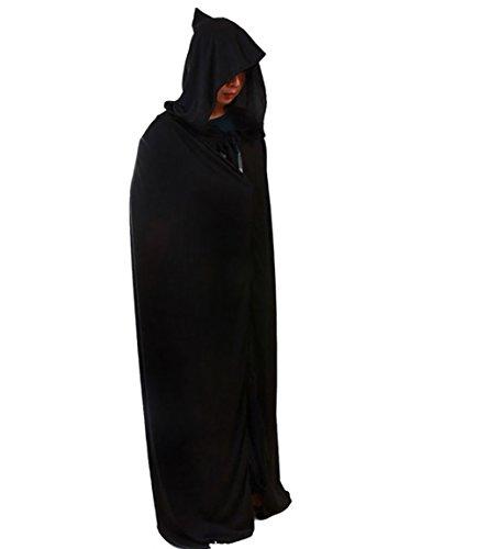 YiJee Grim-Reaper-Kostüm Umhang Karneval Kostüme Weihnachten Halloween Schwarz M