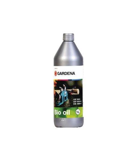 GARDENA Bio-Kettenöl, 1 l: Kettensägen-Öl zum Schmieren der Motorsäge, rein pflanzlich, biologisch abbaubar (6006-20)