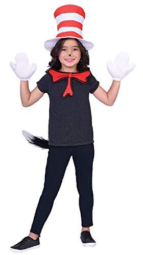 Fancy Me Kinder Jungen Mädchen Offizielles Katzenkostüm Dr. Seuss Fernsehbuch Film Weltbuch Tag Kostüm Outfit Kit
