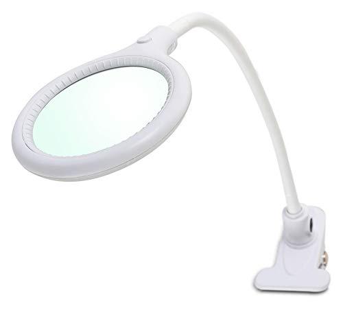 Showlite LL-3036D - Lampada con lente d'ingrandimento da tavolo a LED, 6 Watt, 3 diottrie, lente da 10 cm, 30 LED SMD, ingrandimento 1,75x, colore: Bianco