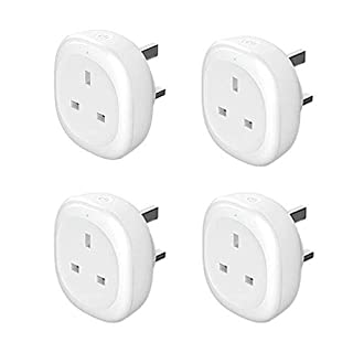 Smart Plug, Woostar Smart Socket with Energy Monitoring, Timing Function Control Your Devices from Anywhere, Compatible with Amazon Alexa, Google Home and IFTTT, Mini Outlet No Hub Required (4 Pack)