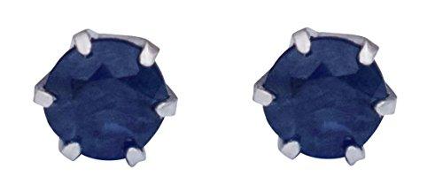 Platin Saphir Ohrringe für Frauen (Platin-saphir-ohrringe)