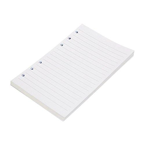 Zhi Jin, copertina riutilizzabile in pelle, formato A5, per raccoglitore ad anelli, diario, agenda, bloc notes, taccuino, appunti, con portapenne A5-Ruled Paper