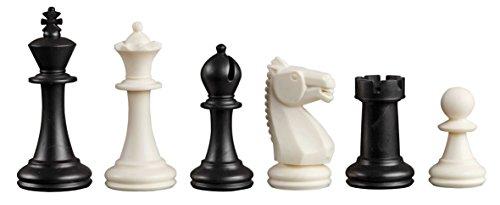 Philos 2020 - Piezas de ajedrez Nerva, Altura 76 mm Rey, plástico, Negro / Blanco