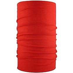 HeadLOOP - Pañuelo multifunción de microfibra, disponible en varios colores, color rojo, tamaño Talla única