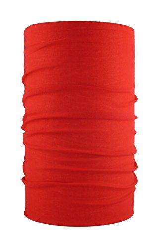 HeadLOOP Multifunktionstuch Schal Halstuch Kopftuch Microfaser (Rot) (Mädchen Waschen Tuch)