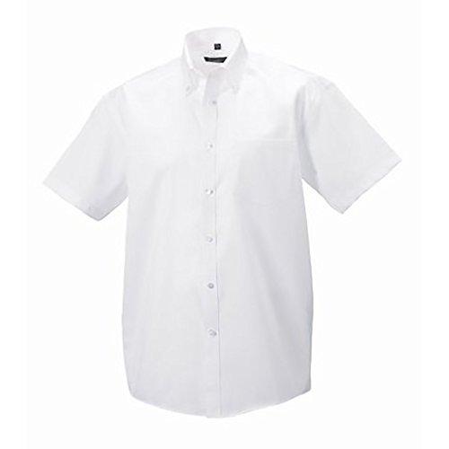 Russell - Chemise à manches courtes sans repassage - Homme Blanc