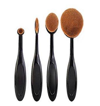 Caomoa 4 pcs / set Brosse À Dents Fondation Forme Sourcils Kits de Maquillage Pinceau Pinceau