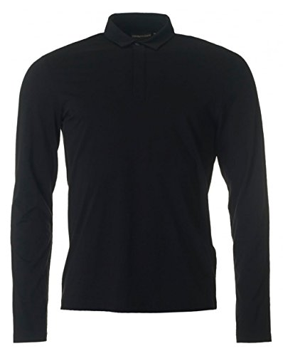 Emporio Armani Long Sleeved Pima Polo XXL BLACK