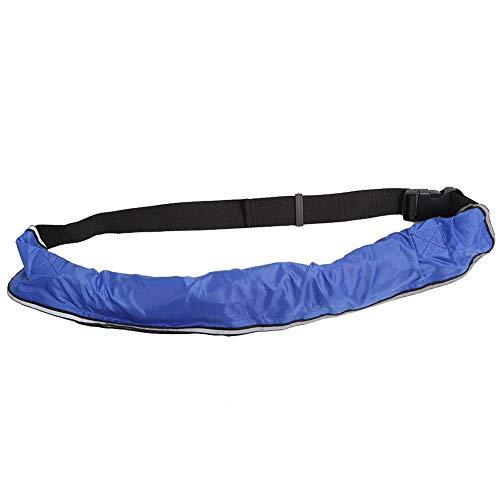 REALM-ARK Aufblasbarer Schwimmwesten-Sicherheitsgürtel mit reflektierenden Bändern und verstellbarem Trageriemen zum schnellen Aufblasen(Blau) -