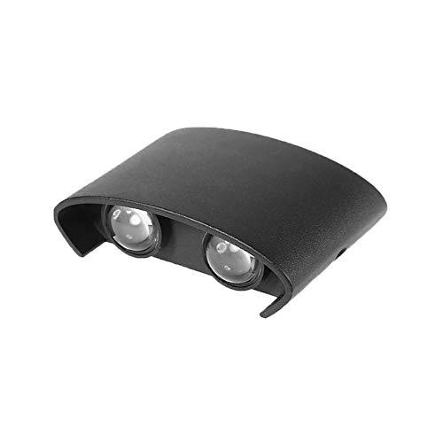 Dicomi Led Lampe Aluminium Wandleuchte Double Head Up und Down Indoor Nachtlichter Curved Lichterketten Schwarz