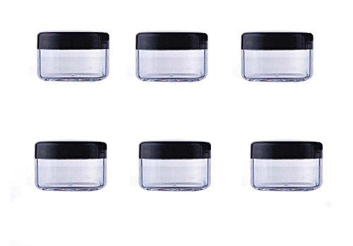 0.5 Unze Pumpe (24PCS 10ml / 15ml / 20ml Durchsichtiger Kunststoff Leerer nachfüllbare Probenflasche Fall Cosmetic Vial Jar Pot Behälter Flasche mit schwarzem Schraubverschluss Deckel (15ml/0,5oz))
