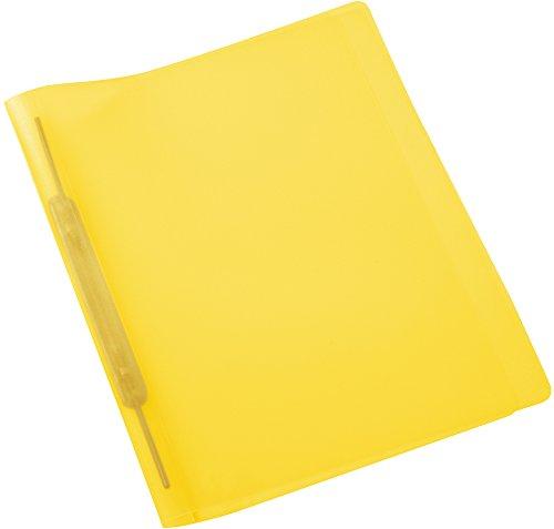 Herma 19536 Spiralhefter DIN A4, transparent gelb, Amtsheftung (beidseitig befüllbar) 1 Schnellhefter, Kunststoff, Plastik, kaufmännische Heftung