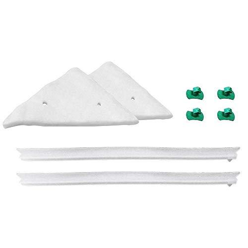 Relleno de limpiador de ventana magnético,10 Set almohadillas de repuesto y cuchillas Repuesto de esponja de triángulo reemplazable y tira de goma para limpiador de ventana3-8mm,8-15mm,15-26mm,18-30mm