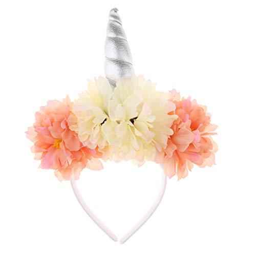 halloween kostueme kinderparty Fenteer Einhorn Horn Stirnband Haarband Haarschmuck Unicorn Kostüm Mädchen Geburtstagsfeier Geschenke Deko - Silber