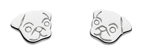 Price comparison product image Dew Girl's Sterling Silver Sweet Pug Face Stud Earrings AMA4861