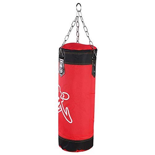 Zetiling Saco de Boxeo, Soporte de Pared Rellenado Entrenamiento de Boxeo MMA Heavy Punch Guantes Cadena Muay Thai Kickboxing - Sin Relleno(1# 60CM)