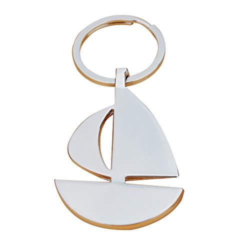 Scopri offerta per LIOOBO Bella Portachiavi Semplice Creativo Portachiavi in Metallo Decorato Portachiavi Barca a Vela (Argento)