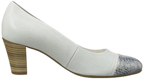 Gabor - Deal, Scarpe col tacco Donna Argento (Silver (Dull Silver Leather/Dark Blue Vipera Glitter))