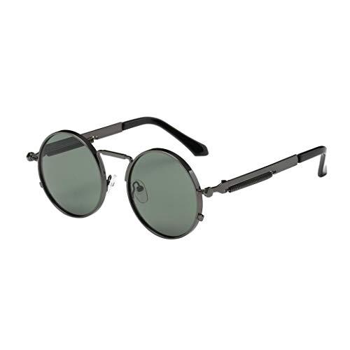 LeeY Sonnenbrille Unisex Runde brille Sonnenbrillen herren damen Polarisiert sonnenbrille Rahmen,...