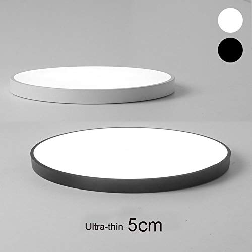 Hot Sale Ultra-thin 5cm LED Ceiling Lights Circular Ceiling Lamps Remote Control Fixture for Balcony/The Living Room/Kitchen,Pink,40CM 36W,RC Dimmable -
