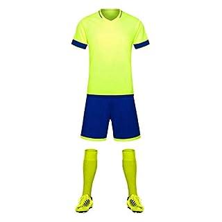 Masterein Homme Football Training Sport Team Jeu de Football Maillot Manches Courtes Kits 6# S