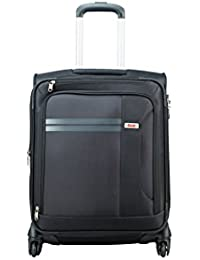 VIP Plazma Polyester 56 cms Black Softsided Cabin Luggage (STPLAW55BLK)