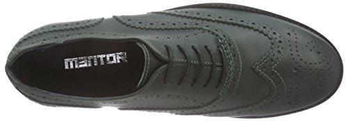 Mentor Mentor Brogue Shoe, Brogues femme Vert (green Leather)
