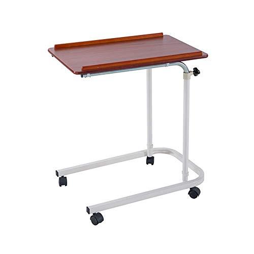 Einfacher Klapptisch HJCA Klapptisch - Mobiler Computer Schreibtischwagen Projektor Stehbett Tisch Höhenverstellbarer tragbarer Laptopständer (Farbe: Rotkirsche) Outdoor Camping Utility Tisch