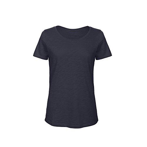 B&C Damen Favourite Slub T-Shirt, organische Baumwolle Chic Pur Weiß