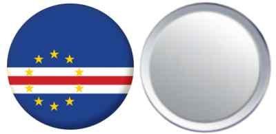 Miroir insigne de bouton Cap-Vert drapeau - 58mm