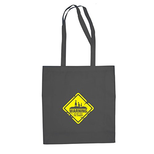 Planet Nerd Do not feed the Zombies - Stofftasche/Beutel, Farbe: grau
