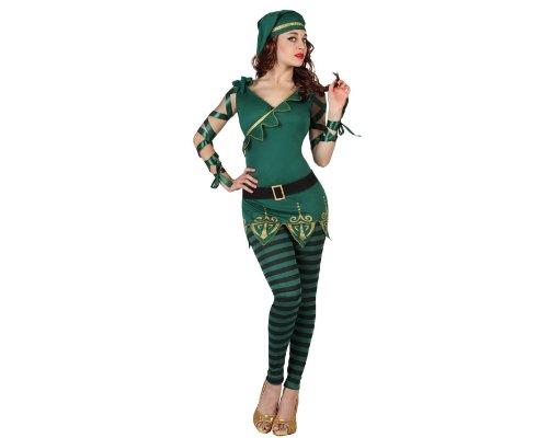 Atosa 22888 - Kobold weibliches Kostüm, Größe XS-S, (Für Kostüm Erwachsene Kobold Das)