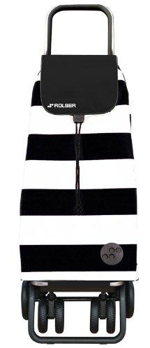 ROLSER Einkaufsroller LOGIC TOUR, PACK LIDO, PAC045, schwarz-weiß, 39,5 x 32,5 x 105,5 cm, 48 Liter, 40 kg Tragkraft