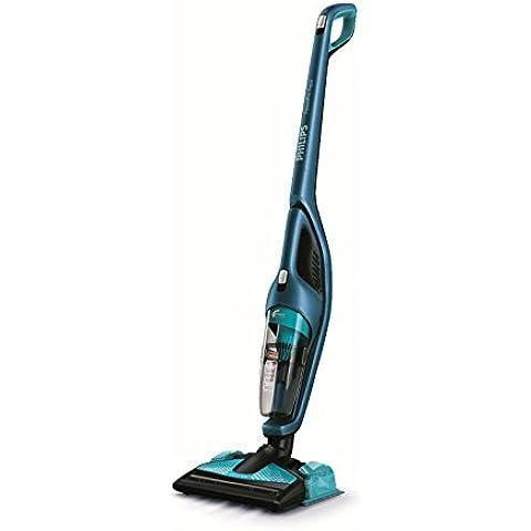 Philips PowerPro Aqua FC6405/01 aspiradora de pie y escoba eléctrica - Aspiradora escoba (Negro, Azul, Alfombra, Suelo duro, Sin bolsa, Ión de litio, TriActive Turbo)