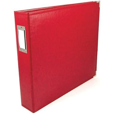 We R Memory Keepers–Álbum de fotos (30,4x 30,4cm, piel sintética, 3anillas, rojo
