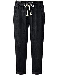 5923360a7 Amazon.fr : Pantalon Toile Femme - Taille haute / Jeans / Femme ...