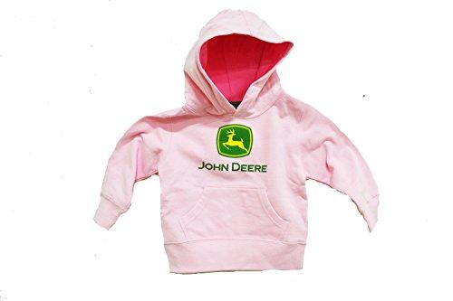 John Deere Hoodie Sweatshirt (John Deere Mädchen Sweatshirt Rosa Pink)